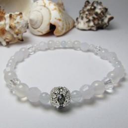 誕生石ブレス Pure White 3月