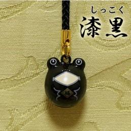 【送料無料】福音鈴(ふくいんすず)かえる根付[漆黒]