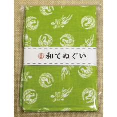 小紋調和手拭 鶴亀1440-10