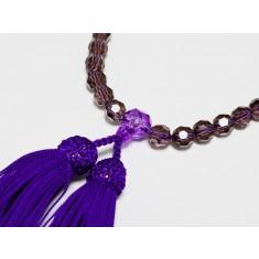 京念珠 紫特上切子8mm 房:紫