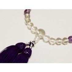 【送料無料】京念珠 紫水晶(霞)8mm 房:紫