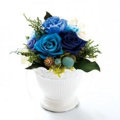 プリザーブドフラワー アレンジL01-Bブルー