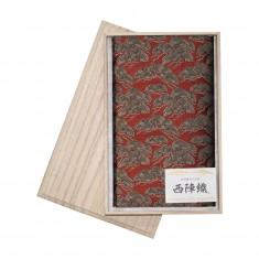 西陣織ふくさ 松寿 朱