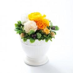 プリザーブドフラワー アレンジM01-Yイエロー