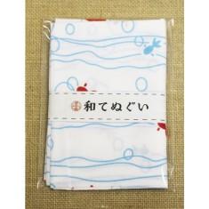 小紋調和手拭 2色流水金魚1440-11