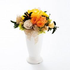 プリザーブドフラワー アレンジT01-Yイエロー